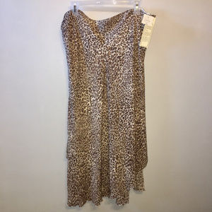 NWT Nygard Silk Leopard Animal Print Skirt 16